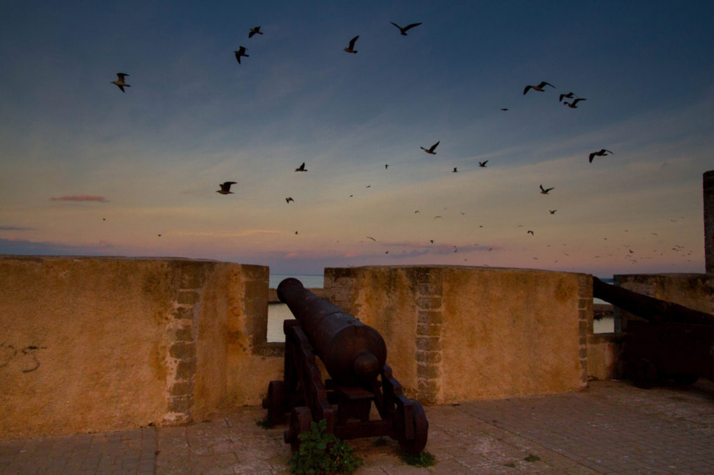 A canon on the Mazagan Fortress wall in El Jadida.
